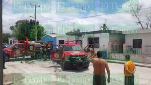Casa se incendia en la San Miguel en Monclova