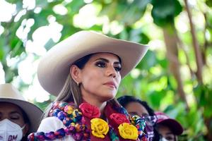 Ya hace fila para votar en Guerrero la candidata Evelyn Salgado