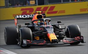 Checo Pérez gana el GP de Azerbaiyán y logra su primer podio en Red Bull