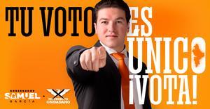 Vota Samuel García en Nuevo León