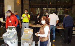 Dolores Padierna emite su voto; destaca el despliegue de seguridad