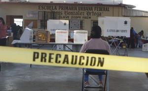 Roban boletas electorales en Miahuatlán, Oaxaca