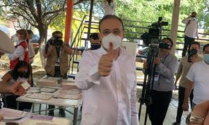 Vota Alfonso Durazo; dice que ya está listo para festejar