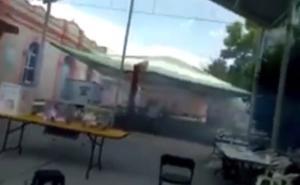Lanzan gas lacrimógeno en casilla de Hidalgo