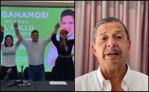 Ricardo Gallardo se proclama ganador en SLP