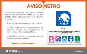 Cierran lunes y martes Metro Zócalo por reunión de AMLO-Kamala Harris