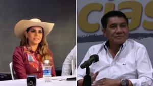 Evelyn Salgado y Mario  Moreno se anuncian como  ganadores en Guerrero