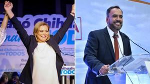 Maru Campos y Juan Carlos Loera, dicen ganar en Chihuahua
