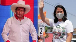 El conteo rápido da un empate técnico entre  Fujimori y Castillo