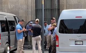 Seguridad de EU supervisa alrededor de Palacio Nacional