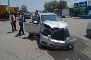Fuerte accidente en la zona centro de Frontera