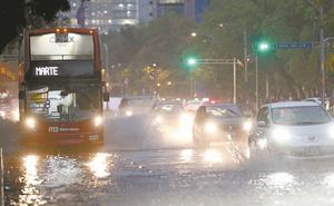 Reportan lluvia en al menos 10 alcaldías de la CDMX