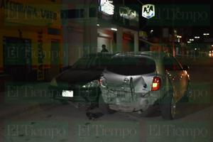 Se registra fuerte accidente en bulevar San José de Monclova