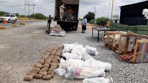 Asegura SEDENA 26 kilos de marihuana en Piedras Negras
