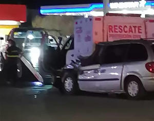 Se estrella contra unidad de Bomberos en Monclova