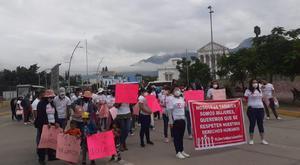 Mujeres marchan liberación de Carrizal en Oaxaca