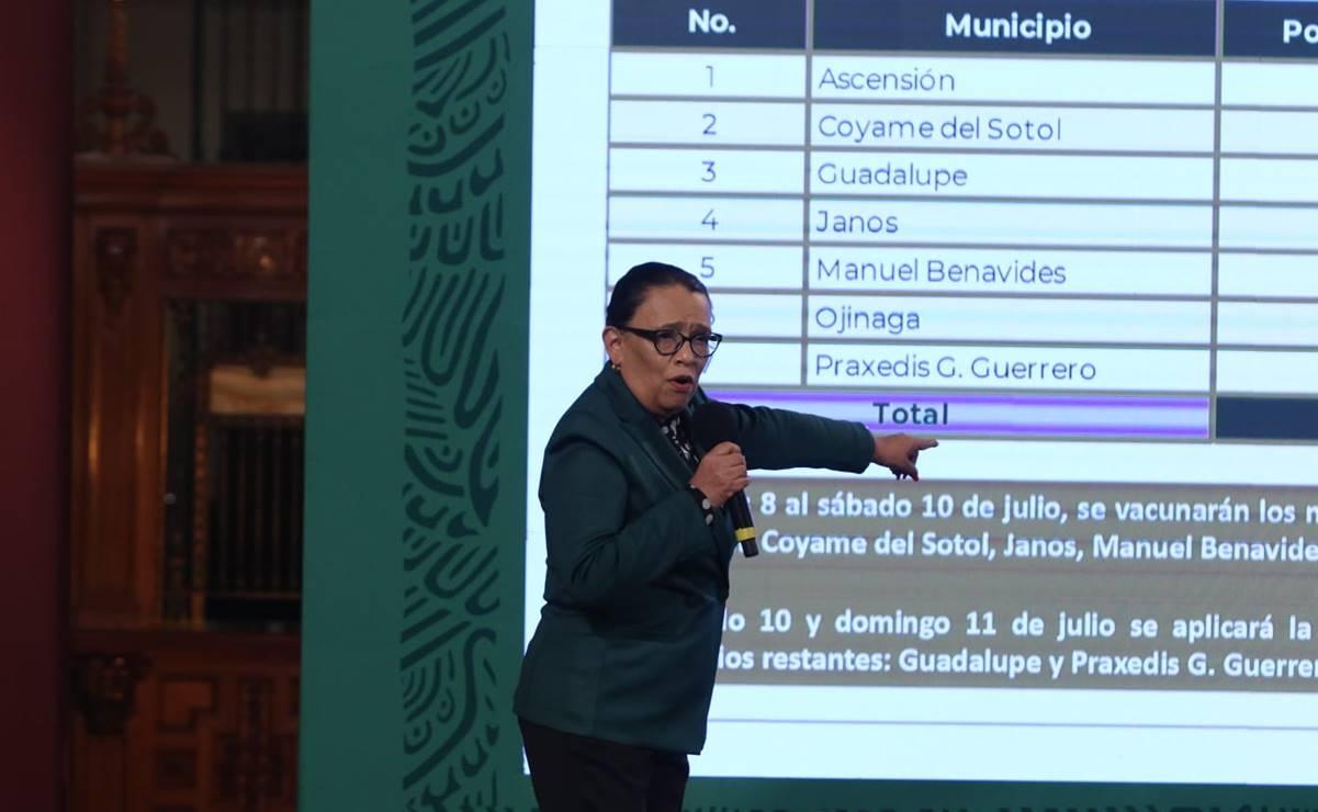 SSPC: 50% de la población de municipios de frontera ha sido vacunada
