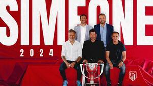 Diego ´El Cholo´ Simeone renueva con el Atlético hasta 2024
