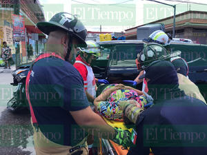 Fuerte choque en la zona centro de Monclova