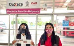 Instalan módulo de atención al migrante en Oaxaca