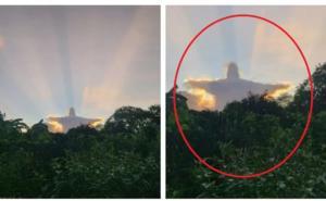 Usuarios aseguran aparición de Cristo en Yucatán