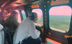 En avión militar, AMLO recorre tramos 3 y 4 del Tren Maya en Yucatán