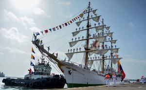 Llega buque escuela de la Armada de Colombia al puerto de Veracruz
