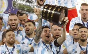 Messi dedica título de Copa América a Maradona