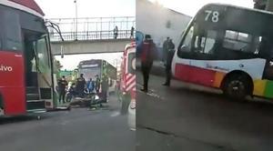Capta Mexibús video del momento en que motociclista muere atropellado