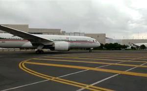 Avión presidencial despega con destino a Japón