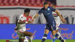 1-1. Racing enmienda el error del meta Arias y logra empatar en Sao Paulo
