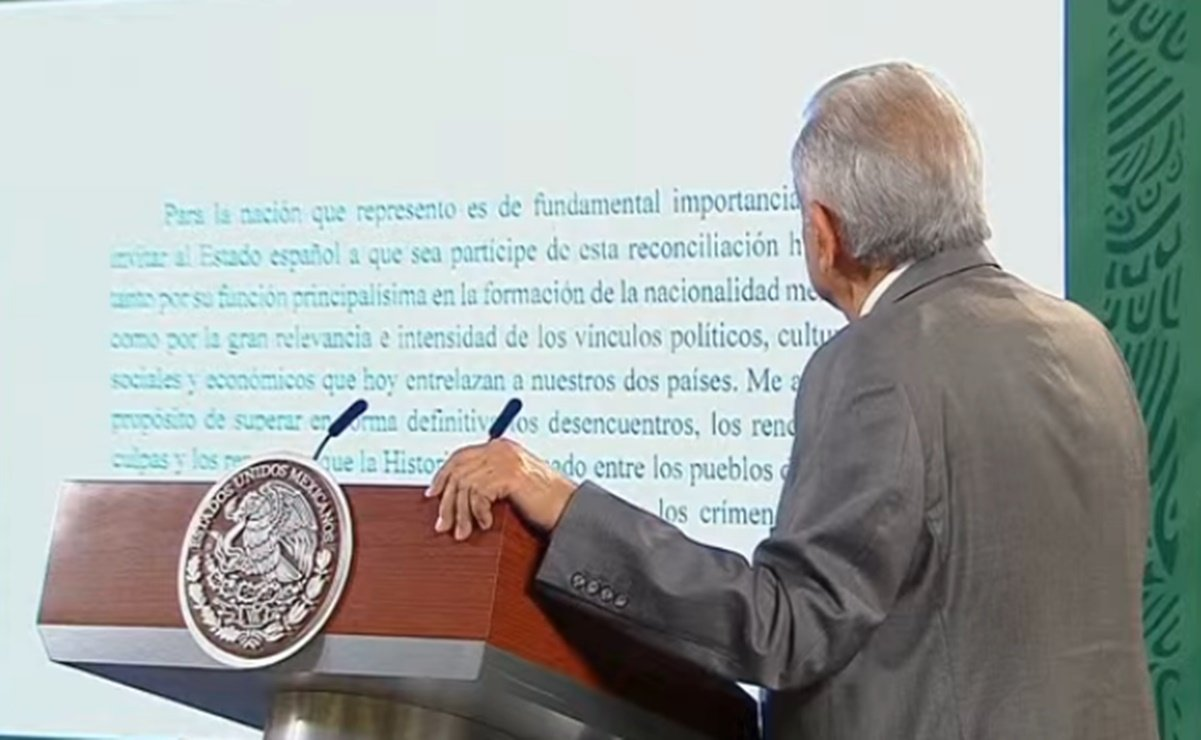 Reprocha AMLO a Rey de España por no responder carta sobre Conquista