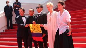 S.O.S. Colombia,la reivindicación política llega a la alfombra roja de Cannes