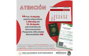 El Consulado de México en  El Paso abre mil 200 citas