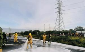 Huachicol provoca fuga de combustible en autopista Ecatepec-Pirámides