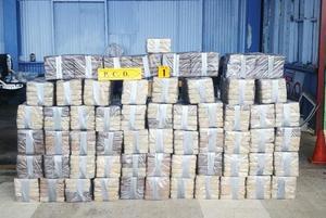 Autoridades decomisan 4.3 toneladas de cocaína en contenedor de Costa Rica