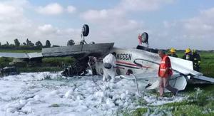 Un avión se desploma en pleno despegue en Durango