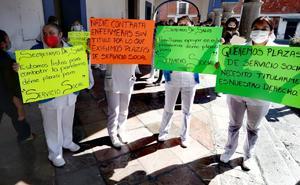 Por bajos salarios protestan enfermeras que atienden Covid en Hidalgo