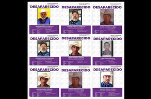 Mesa de Seguridad busca a 10 desaparecidos en Sonora