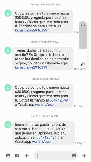 Financieras acosan a pensionados por celular en Monclova