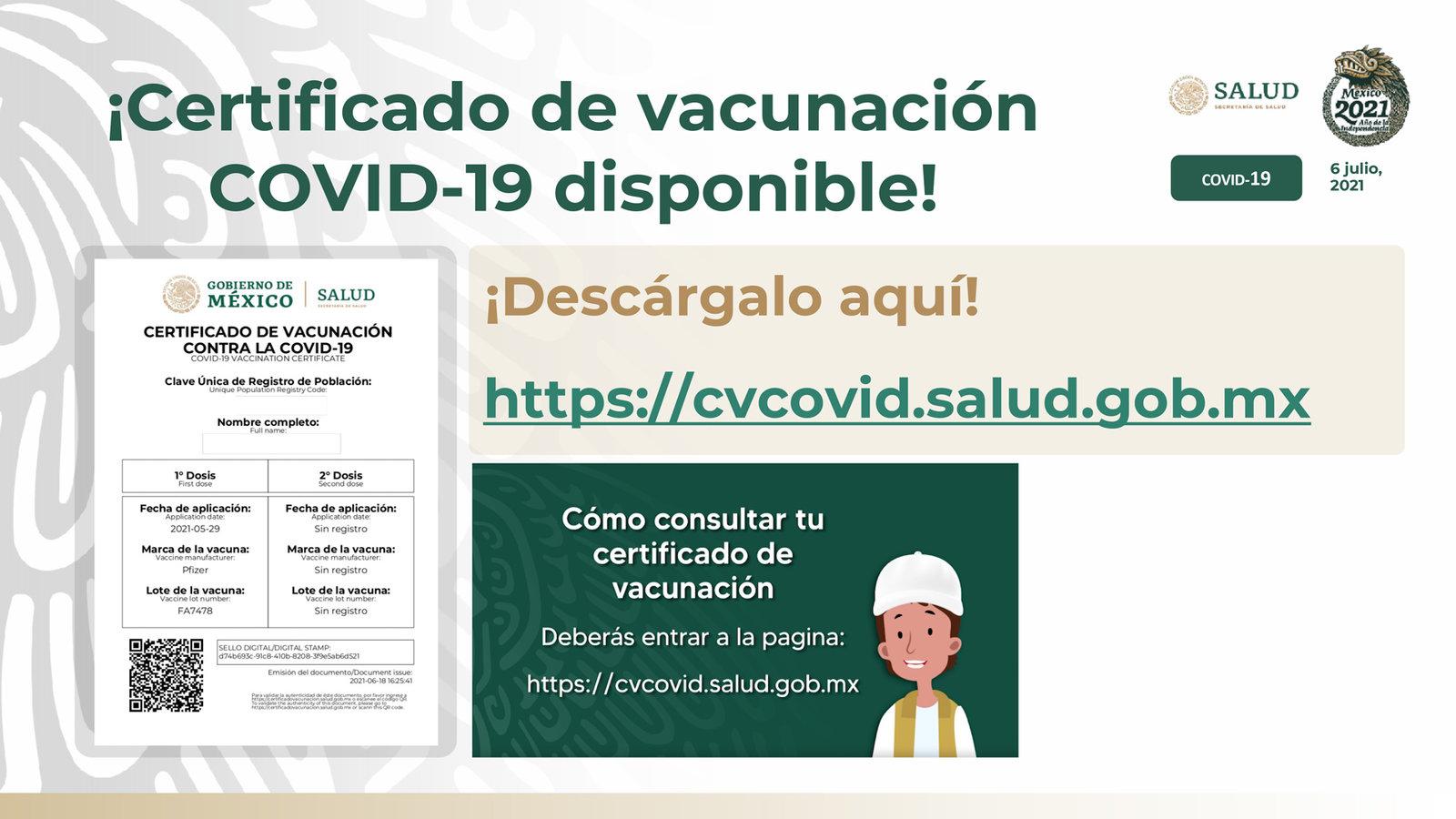 Así puedes obtener el certificado de vacunación contra el COVID-19