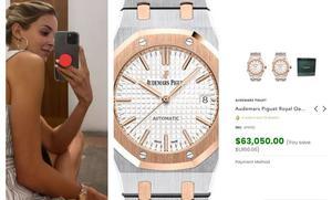 La próxima primera dama de NL presume reloj de un millón de pesos
