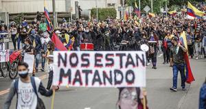 Colombianos denuncian en Madrid las desapariciones y la impunidad en su país