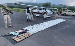 Sedena asegura aeronave en Sonora con droga valuada en 28 mdp