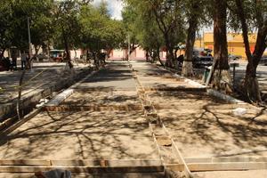 La plaza de San Buena  continúa en rehabilitación