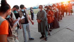 Llega a España un nuevo vuelo estadounidense con 200 evacuados de Afganistán