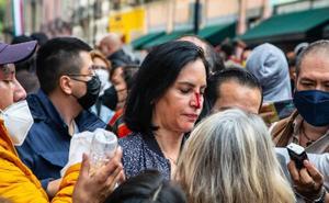 Lía Limón denuncia agresión afuera del Congreso CDMX