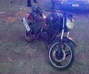 Una motocicleta apareció abandonada en la avenida Industrial
