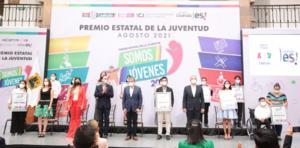 Miguel Riquelme entrega Premio Estatal de la Juventud 2021