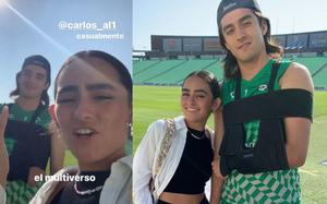 ¡Como 2 gotas de agua! Carlos Acevedo, portero de Santos, se reúne con Alexa su 'gemela perdida'